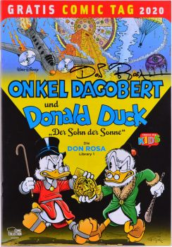 Free Comic Day 2020: Uncle Scrooge and Donald Duck - Son Of The Sun - signed by Don Rosa.