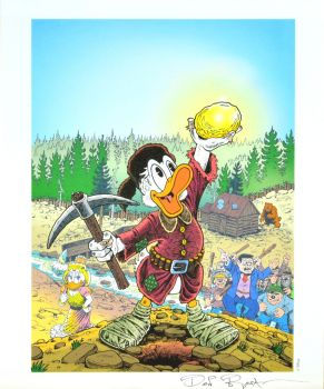 DON ROSA LITHOGRAPH - THE KING OF THE KLONDIKE SIGNED