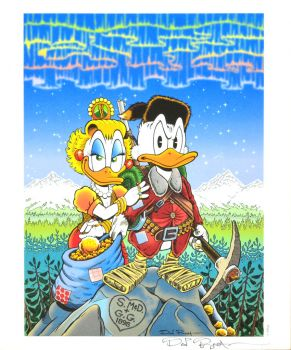 DON ROSA LITHOGRAPH - HEARTS OF THE YUKON - SIGNED