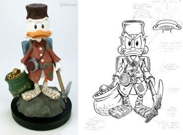 DON ROSA ONKEL SCROOGE STATUETTE - LIMITIED & SIGNED