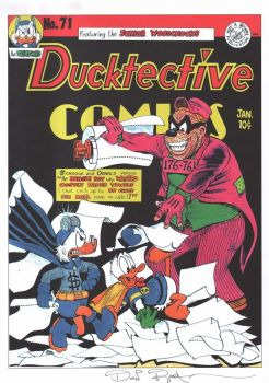 DON ROSA parody print DUCKTECTIVE DETECTIVE comics 71 signed