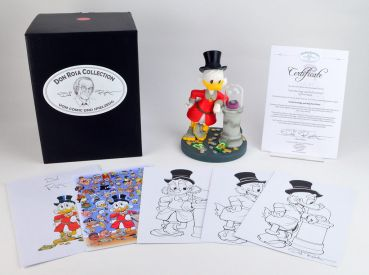 DON ROSA FIGURINE - UNCLE SCROOGE AND HIS FIRST DIME - LIMITED & SIGNED
