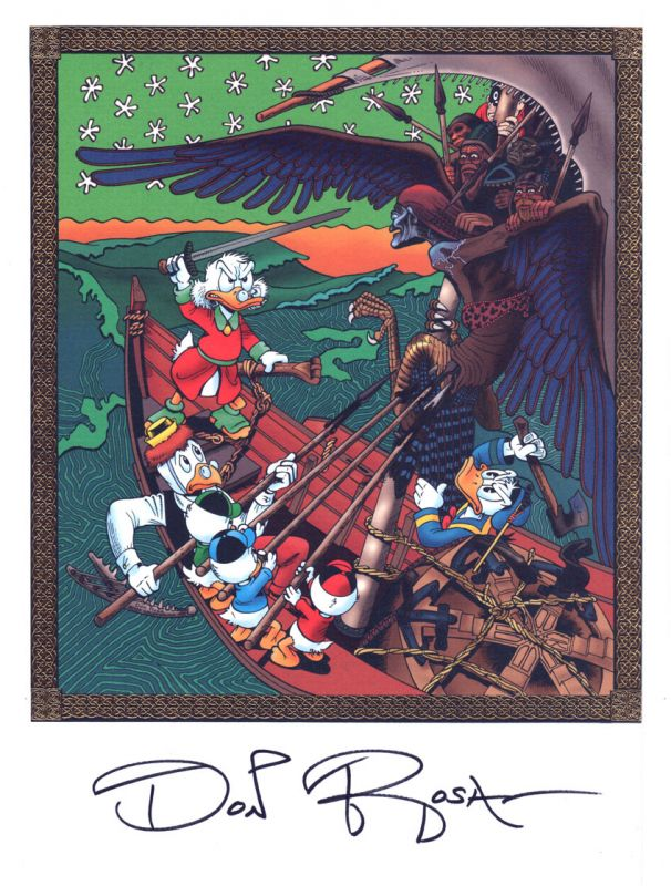 "DON ROSA Art Print ""The Quest For Kalevala""   signed"