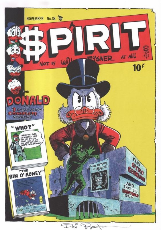 DON ROSA parody print $PIRIT SPIRIT cover #18 signed